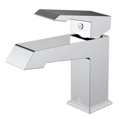 Labaro Brass Single Hole Bathroom Faucet - Chrome
