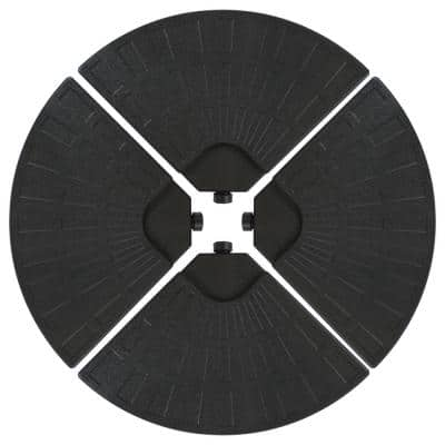 Heavy-Duty Cantilever Offset Patio Umbrella Base Plate in Black Weights for Outdoor Cross Style Bases (Set of 4)