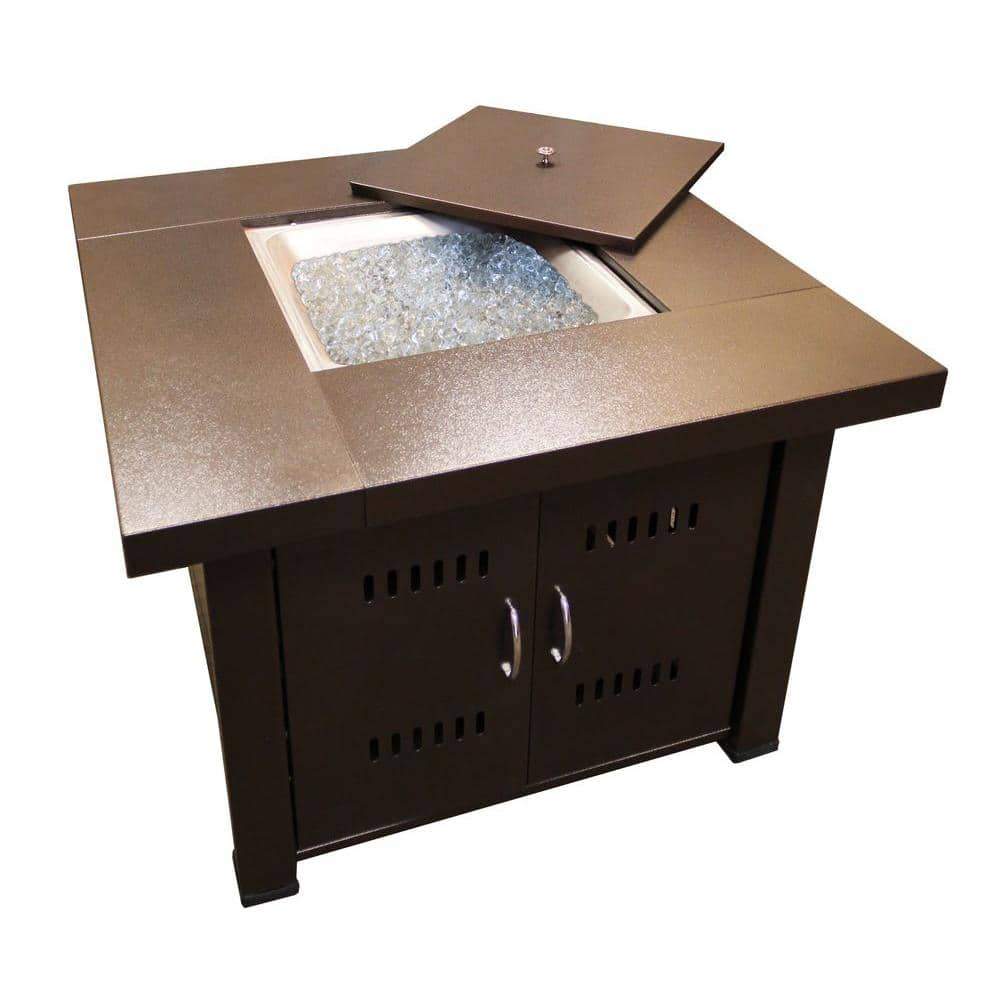 Az Patio Heaters 38 In Steel Firepit In Bronze Gs F Pc The Home Depot
