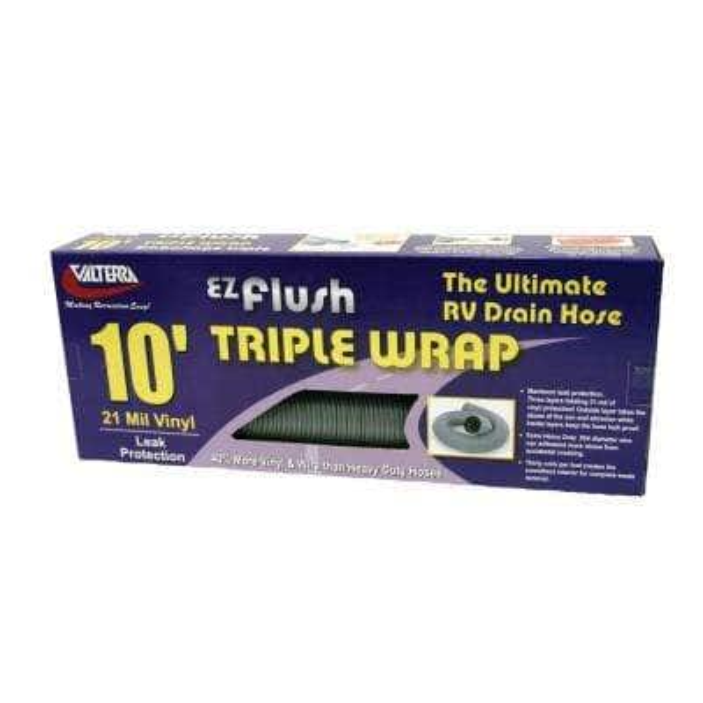 EZ Flush Triple Wrap RV Drain Hose - 10'