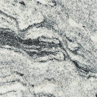 3 in. x 3 in. Granite Countertop Sample in Silver Cloud