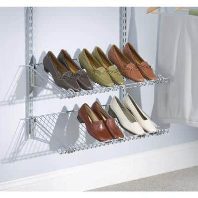 12 in. D x 26 in. W x 4.5 in. H Configurations Wire Closet System Dual Shoe Shelf Kit