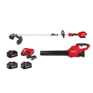 M18 FUEL 18-Volt Lithium-Ion Brushless Cordless QUIK-LOK String Trimmer/Blower Combo Kit w/ (1)8AH and (2)6AH Batteries