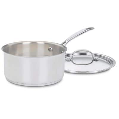 Chef's Classic 3 qt. Stainless Steel Sauce Pan with Glass Lid