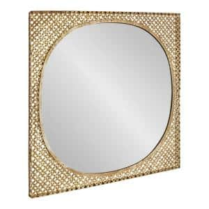 Salazaar 28 in. x 28 in. Classic Square Framed Gold Wall Mirror
