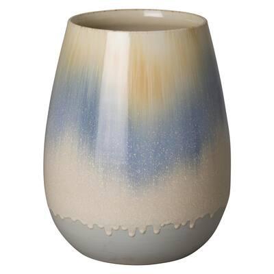 15 in. Falling Rain Ceramic Cup Planter