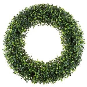 19.5 in. Artificial Boxwood Wreath