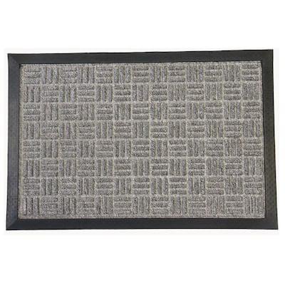 Wellington Carpet Doormat Gray 48 in. x 72 in. Rubber Carpet Mat