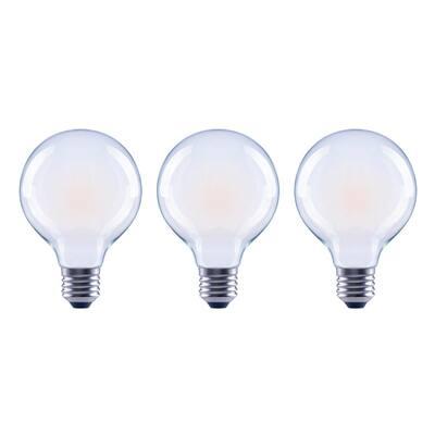 40-Watt Equivalent G25 Globe Dimmable ENERGY STAR Frosted Glass Filament Vintage LED Light Bulb Soft White (3-Pack)