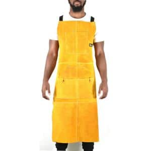 24 in. x 42 in. Heavy-Duty Genuine Cowhide Leather Work Apron