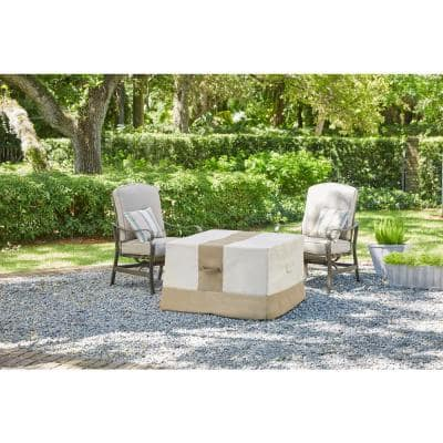 Large Square Outdoor Patio Gas Fire Pit Cover