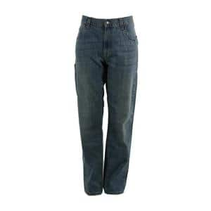 Berne 1915 Collection Men S 34 In X 38 In Stone Wash Dark Cotton Relaxed Fit Carpenter Jeans P423swd34380 The Home Depot