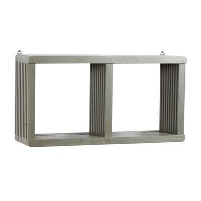 Grey Contemporary Wood Wall Shelf