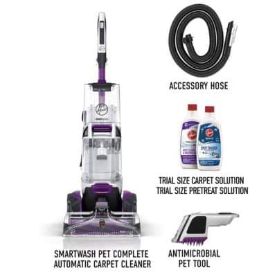 SmartWash Pet Complete Automatic Carpet Cleaner Machine with Removeable Stain Pretreat Wand
