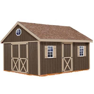 Easton 12 ft. x 16 ft. Wood Storage Shed Kit