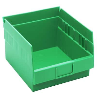 Economy Shelf 9 Qt. Storage Tote in Green (8-Pack)