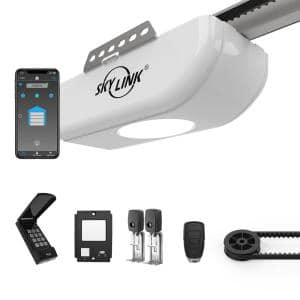 1/2 HPF Garage Door Opener with Extremely Quiet DC Motor Belt Drive with Wi-Fi Connectivity