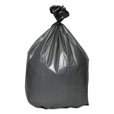 60 Gal. Gray 1.55 Mil 39 in. x 56 in. Trash Bags (50/Carton)