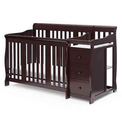 Portofino Espresso 4-in-1 Convertible Crib and Changer
