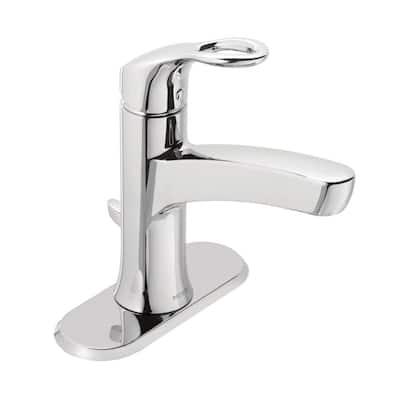 Kleo Single Hole Single-Handle Mid-Arc Bathroom Faucet in Chrome