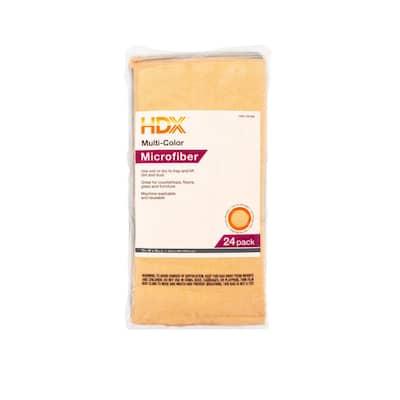 16 in. x 16 in. Multi-Purpose Microfiber Cloth (24-Pack)