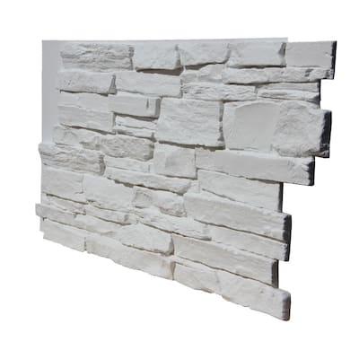 Stacked Stone Dish in Freeform White I