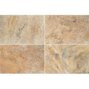 Tuscany Beige 16 in. x 24 in. Rectangle Gold Travertine Paver Tile (60 Pieces/160.2 sq. ft./Pallet)