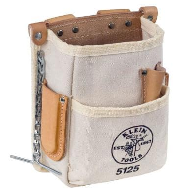 Tool Pouch, 5-Pocket, Canvas
