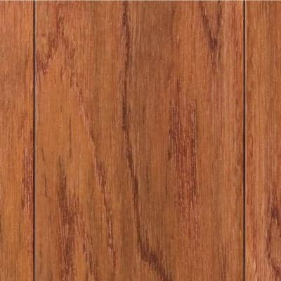 Hand Scraped Oak Gunstock 3/8 in. T x 4-3/4 in. W x Varying Length Click Lock Hardwood Flooring (24.94 sq. ft. / case)