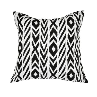Fire Island Charcoal Square Accent Lounge Throw Pillow
