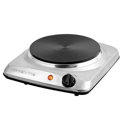 Single Burner 7 in. Silver Electric Cast Iron Hot Plate Burner with 5-Level Temperature Control and Indicator Light