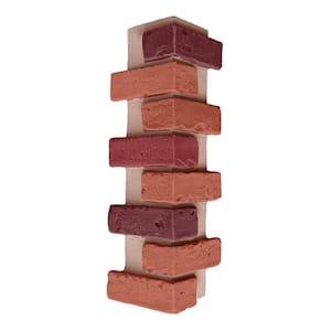 22.5 in. x 7 in. Multi-Color Brick Veneer Siding Outside Corner Panel