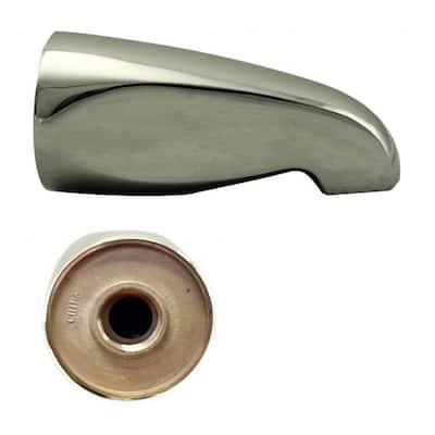 5-1/2 in. Brass Standard Tub Spout in Polished Nickel