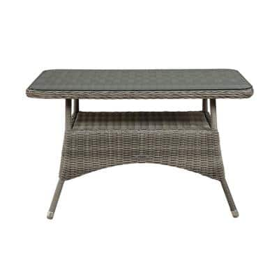 Monaco Rectangular All-Weather Wicker 26 in. H Outdoor Dining Table