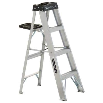 4 ft. Aluminum Step Ladder with 300 lbs. Load Capacity Type IA Duty Rating