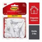 Medium White Utility Hook Value Pack (8-Hooks, 16-Strips)