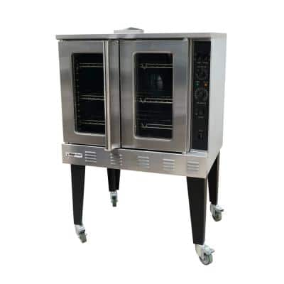 38 in. Commercial Convection Oven in Stainless Steel