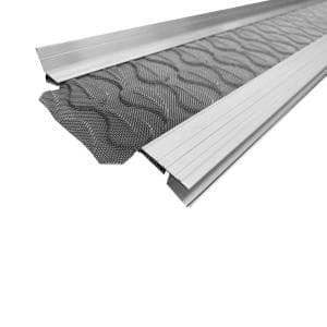 3 ft. L x 5 in. W No Drilling Snap & Lock Aluminum Gutter Guard with Stainless Steel Micro Mesh (10-Piece Equals 30 ft.)