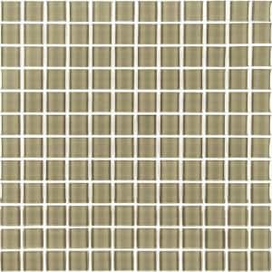 Metro Jerusalem Brown Square Mosaic 1 in. x 1 in. Glossy Glass Mesh Mounted Wall Tile (10.78 sq. ft./Case)