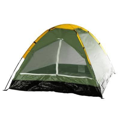2-Person Green Dome Tent with Carry Bag