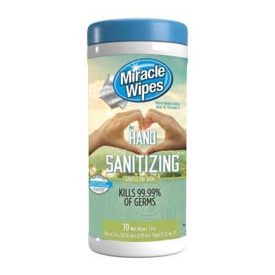 MiracleWipes for Hand Sanitizing (70-Count)