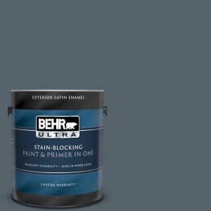 1 gal. #N490-6 Calligraphy Satin Enamel Exterior Paint and Primer in One