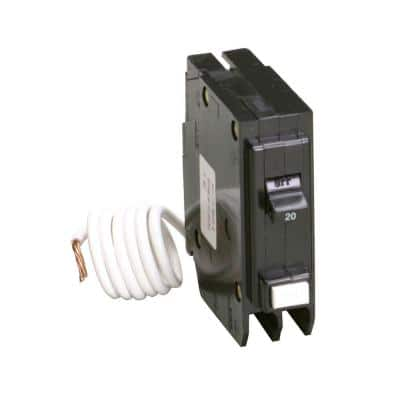BR 20 Amp Single Pole Self Test Ground Fault Circuit Breaker