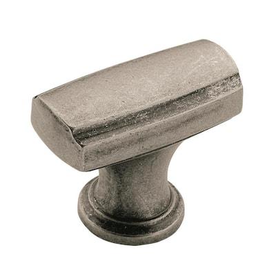 Highland Ridge 1-3/8 in (35 mm) Length Aged Pewter Cabinet Knob