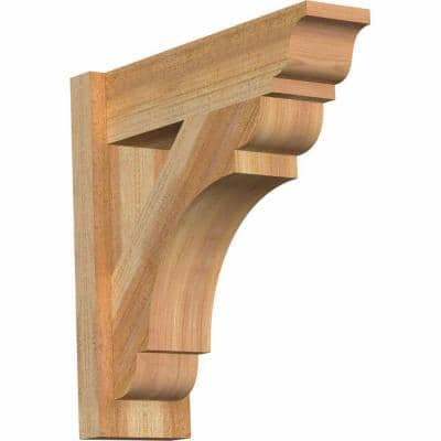 6 in. x 20 in. x 20 in. Western Red Cedar Olympic Traditional Rough Sawn Outlooker