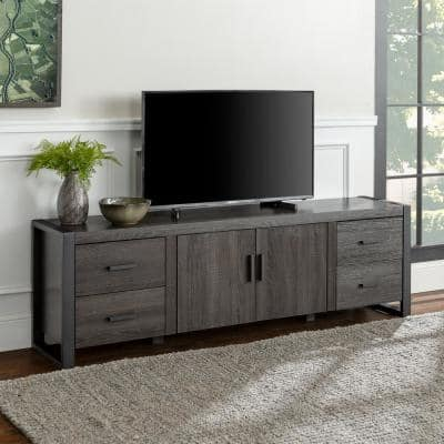 Gray Tv Stands Living Room Furniture The Home Depot