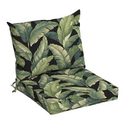 21 in. x 17 in. 2-Piece Deep Seating Outdoor Lounge Chair Cushion in Onyx Cebu