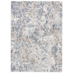 Moondust Gray/Blue 5 ft. x 8 ft. Geometric Area Rug