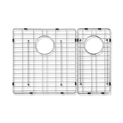 Deverell Wire Grid for Double Bowl Kitchen Sinks in Stainless Steel