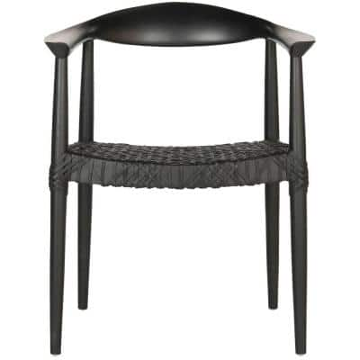 Bandelier Black Leather Arm Chair